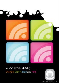 4 Colors RSS Icons